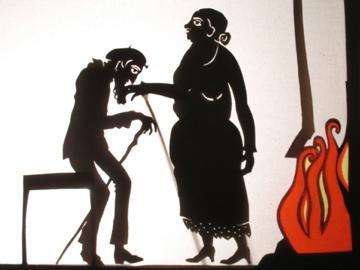 la vielle dame et le vieux en ombre chinoise