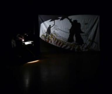 la rencontre au cirque - marionnette au retro-projecteur